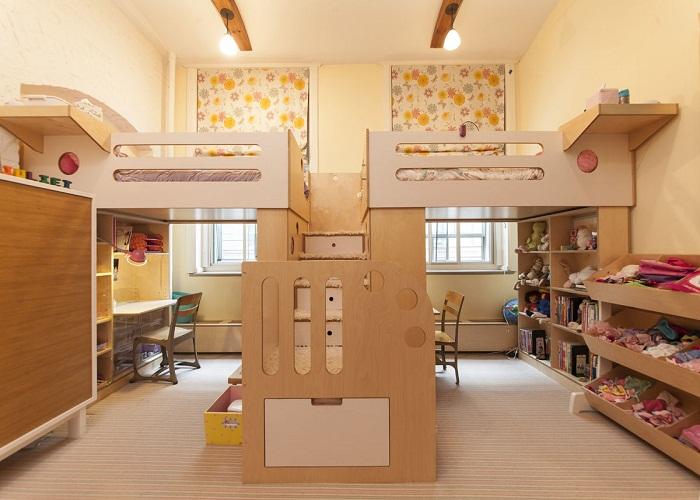 Как разделить комнату для разнополых детей.