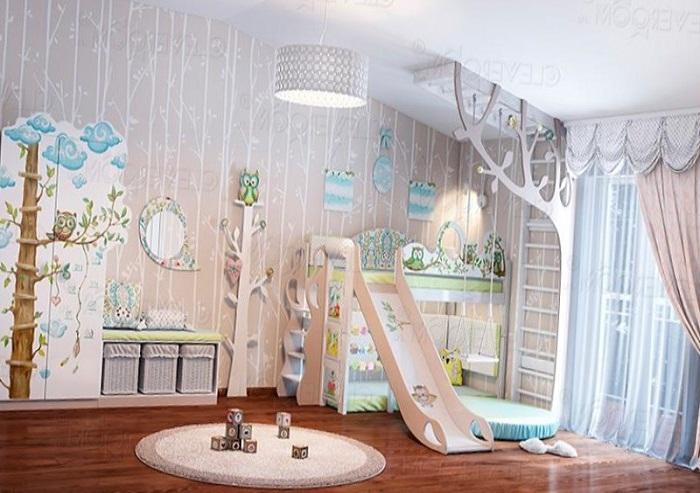 Интерьер комнаты для малышей 2-6 лет.