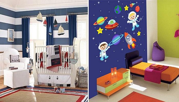 Комната оформлена с учетом интересов ребенка.