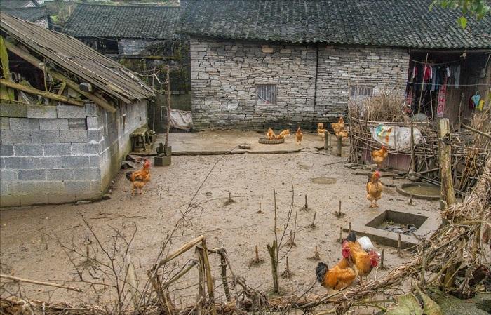 Так выглядела деревня в середине прошлого века (Хуаси, Китай).