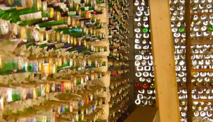 Как укладывать бутылки при строительстве дома или дачи.