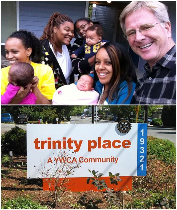 Известный телеведущий-путешественник и мультимиллионер Рик Стивс приобрел жилой комплекс за 4 млн дол. для бездомных женщин с детьми (Линвуд, США).