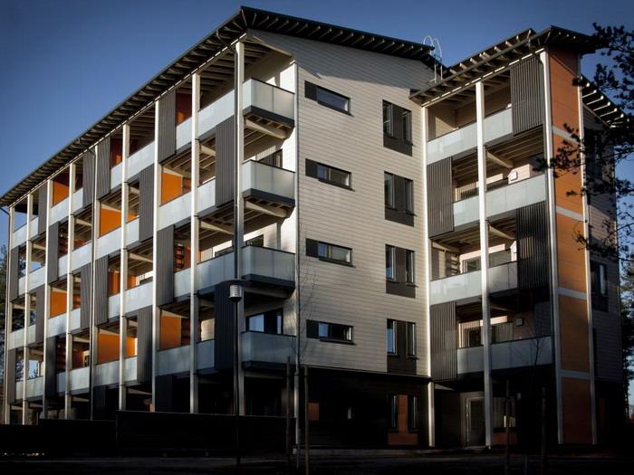 Концептуальный проект доказал свою рентабельность, поэтому в Финляндии началось активное строительство энергонезависимых многоквартирных домов. | Фото: cleanenergo.ru.