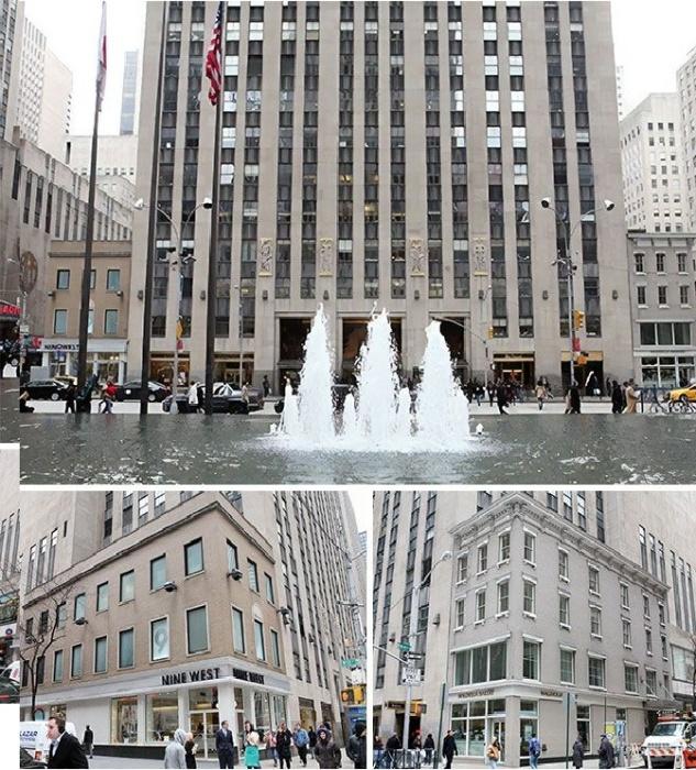 Весь комплекс Rockefeller Plaza был перемещен из-за этих двух зданий (Манхэттена, Нью-Йорк). | Фото: uiut.boltai.com.