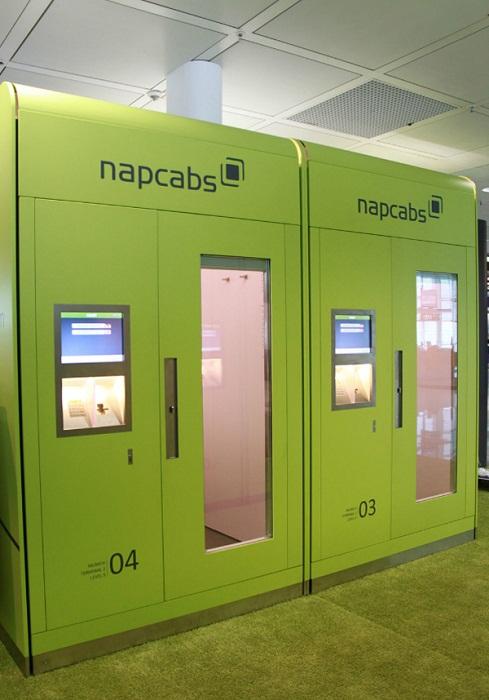 Кабины Napcabs в аэропорту Мюнхена (Германия).
