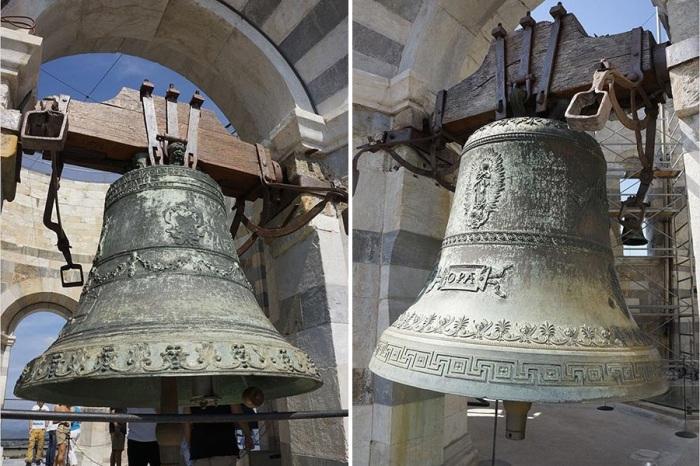 Каждый из 7 колоколов на Пизанской башне настроен на свои ноты, создавая удивительный звук (Италия). | Фото: metalspace.ru.