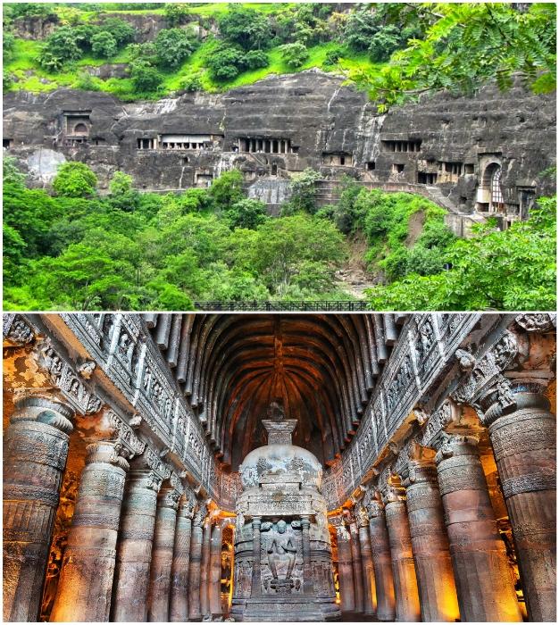 Пещеры Аджанта – серия храмов и памятников, посвященных Будде (Индия).