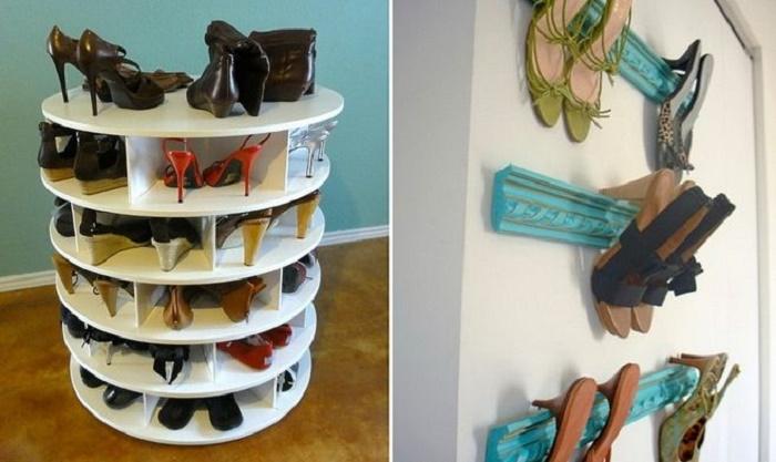 Если включить фантазию и приложить максимум усилия, можно стать владельцем и таких полок для обуви. | Фото: remotvet.ru.