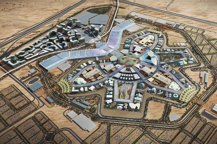Макет грандиозного проекта павильонов  World Expo 2020 (Дубаи, ОАЭ).