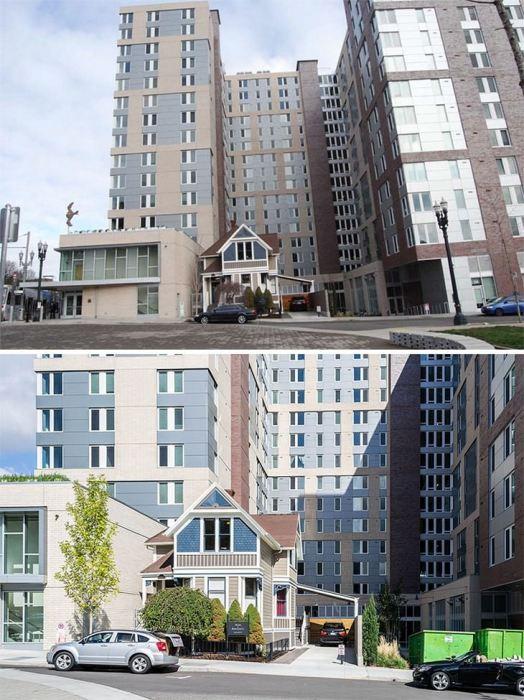 Владелец крошечного дома оказался на территории студенческого городка (Портленд, США). | Фото: ba-bamail.com.