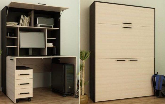 «Умный» шкаф сможет обеспечить и рабочим местом, и идеальным порядком. | Фото: kharkovforum.com.