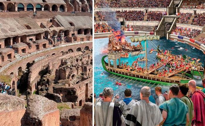 Колизей – единственный амфитеатр, на арене которого организовывались морские бои. | Фото: puteshestvovat.com.