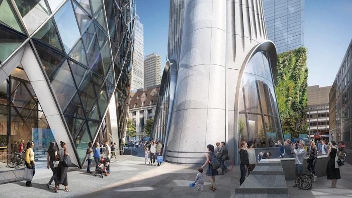 Территория возле самой высокой смотровой площадки Великобритании станет особенных общественным местом (концепт The Tulip, Лондон). | Фото mymodernmet.com.