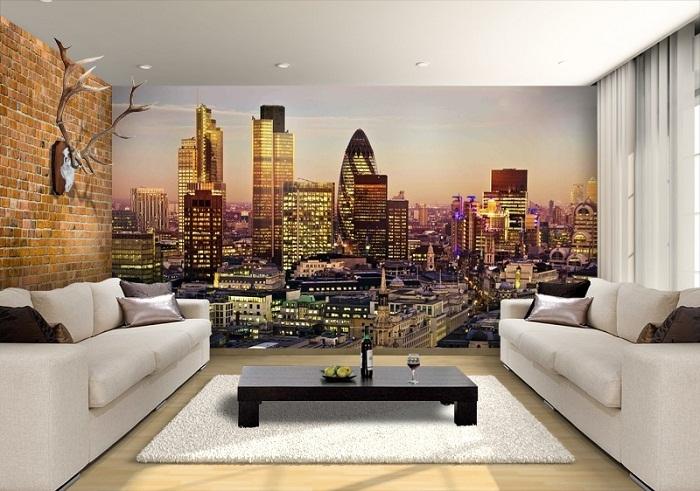 Фотообои не только украсят интерьер, но и зрительно увеличат площадь комнаты.