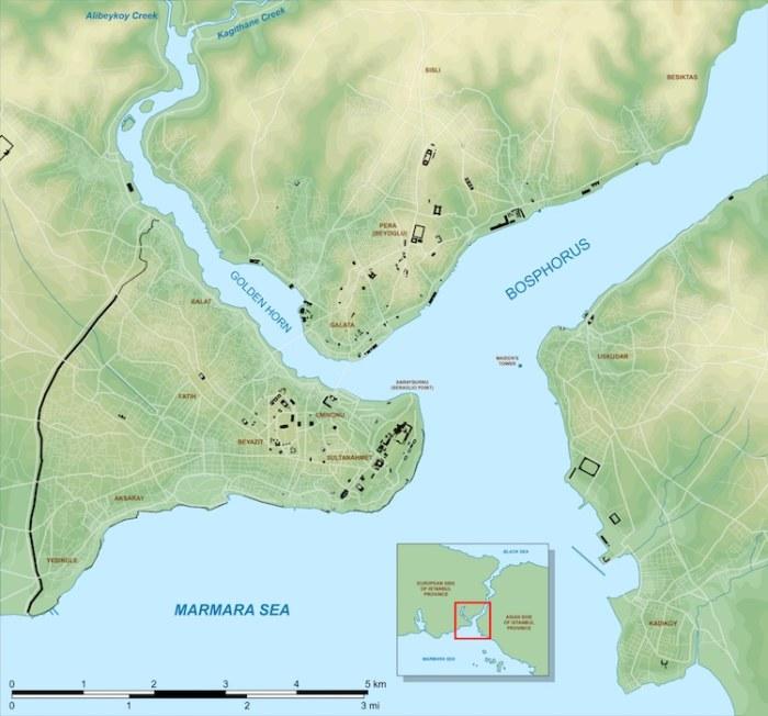 Карта местности, на которой планировали возводить мост. | Фото: mymodernmet.com.