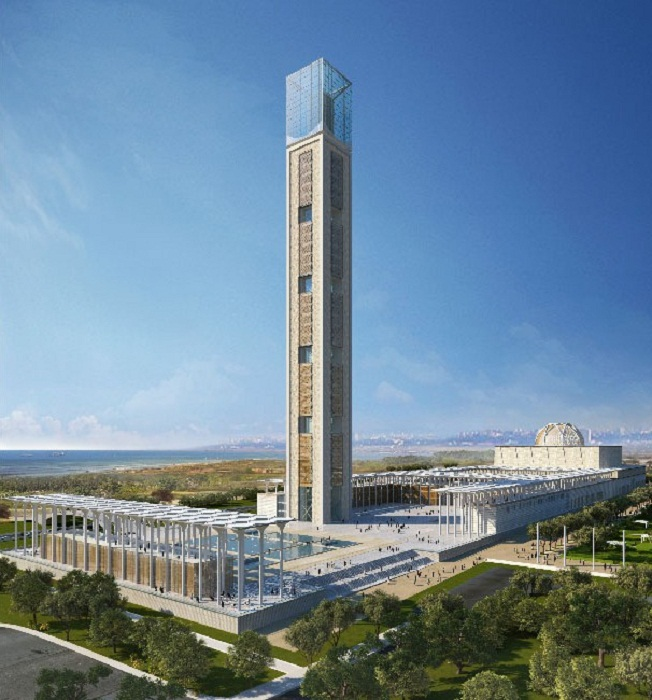 Разработкой и строительством Великой мечети Алжира занималась Китайская государственная строительная инженерная корпорация (CSCEC). | Фото: skyscrapercenter.