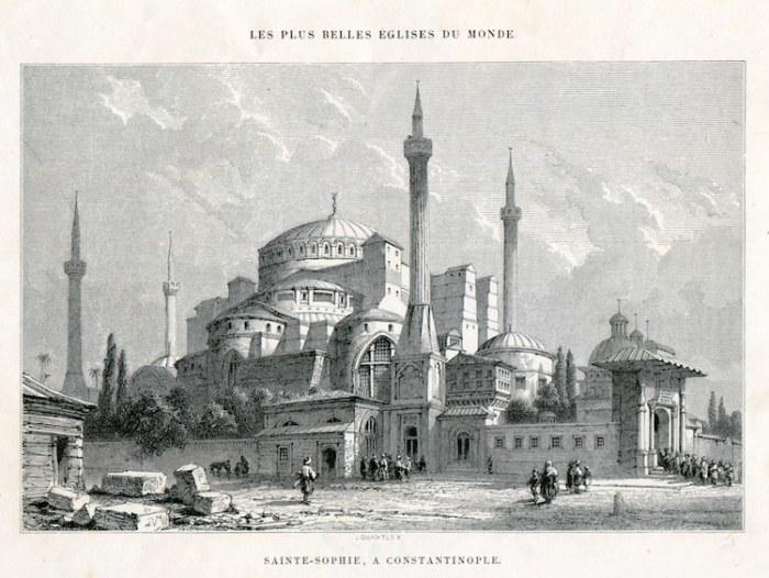 Литография Собора Святой Софии, 1857 г. | Фото: mymodernmet.com.
