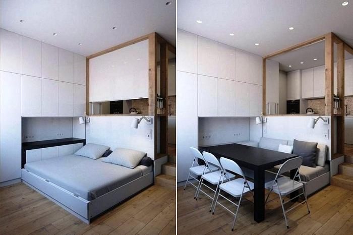 Смарт-мебель – идеальный вариант для маленьких квартир. | Фото: cpykami.ru.