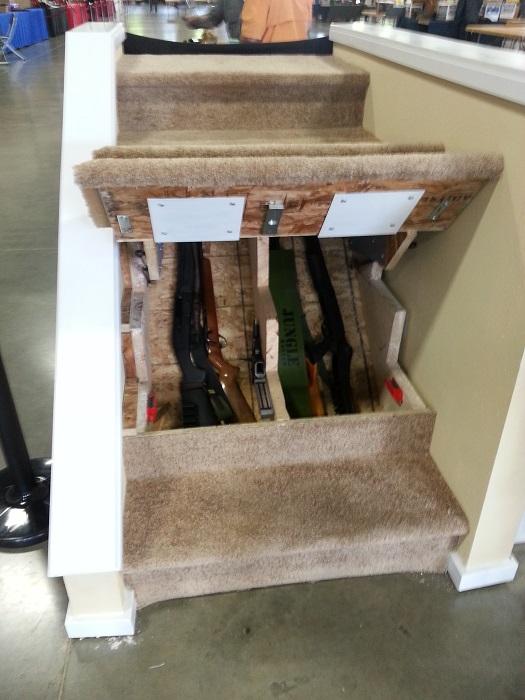 Ступени станут идеальным местом для того, чтобы оборудовать тайный сейф для охотничьего ружья. | Фото: elysianhunter.com.