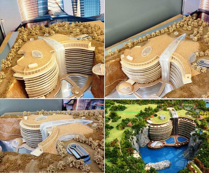 макет отельного комплекса Songjiang InterContinental.