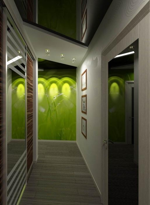 Акцентную стену можно организовать и с помощью интересной подсветки. | Фото: pinterest.com.