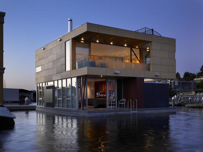 Дома на воде в Сиэтле частое явление. | Фото: ru.beautiful-houses.net.
