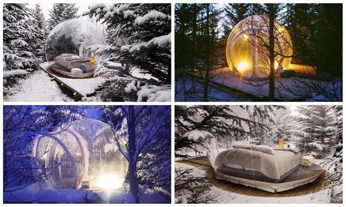Самые невероятные условия проживания в полностью прозрачных номерах отеля The 5 Million Star (Исландия).