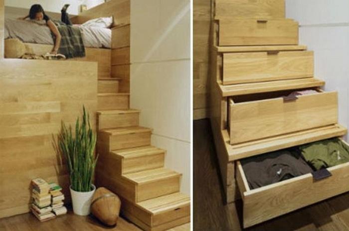 Чтобы сделать ящики в ступенях не нужно иметь хоромы. | Фото: everonhanoi.com.vn.