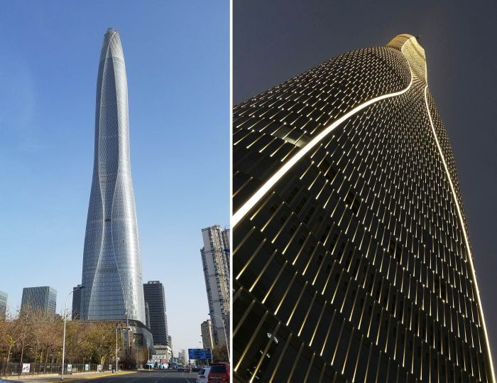 Небоскреб станет ярким ориентиром в Тяньцзиньской зоне экономического и технологического развития (Tianjin CTF Finance Centre, Китай). | Фото: wsp.com.