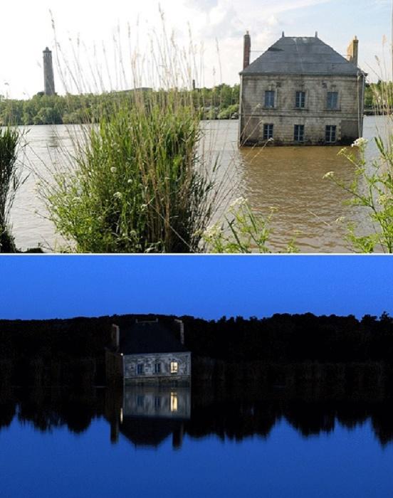 Художественная инсталляция привлекает внимание и не оставляет никого равнодушными («Дом на реке Луаре», Франция).