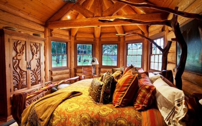 Интерьер в деревенском стиле из натурального дерева – идеальное жилье для тельцов. | Фото: burosneg.ru.