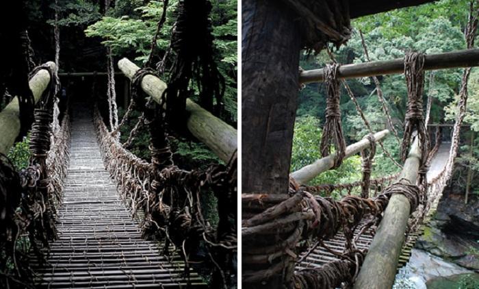 Подвесные пешеходные тропы на реке Ия (Япония). |Фото: ru.jal.co.jp.