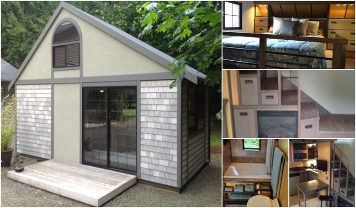 Маленький домик от американского архитектора вызвал небывалый ажиотаж среди соседей. | Фото: itinyhouses.com.