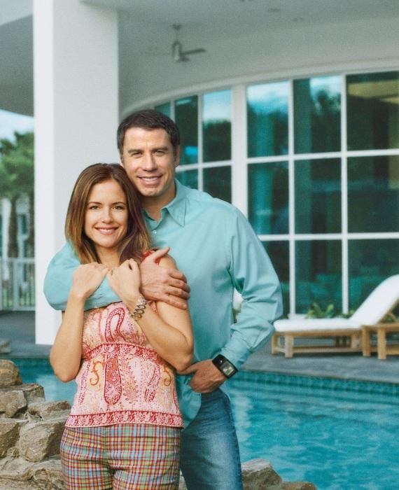Джон Траволта и Келли Престон у себя дома во Флориде.   Фото: architecturendesign.net.