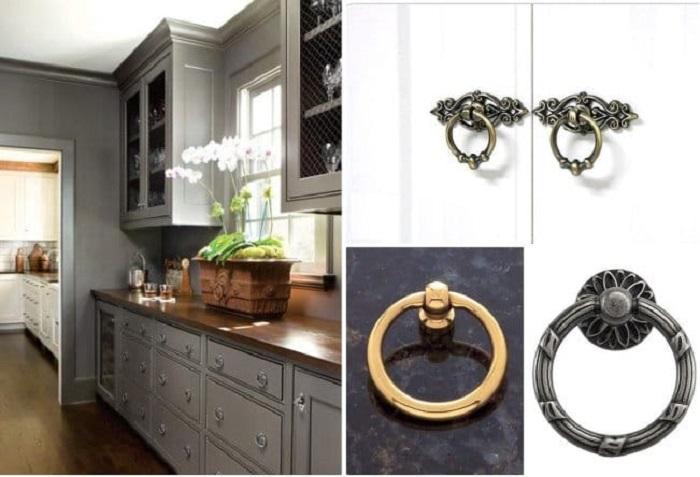 Ручки-кольца - благородный и элегантный декор. | Фото: kitchendecorium.ru.