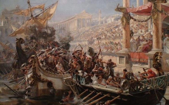Морские бои, происходящие на арене ди Верона.