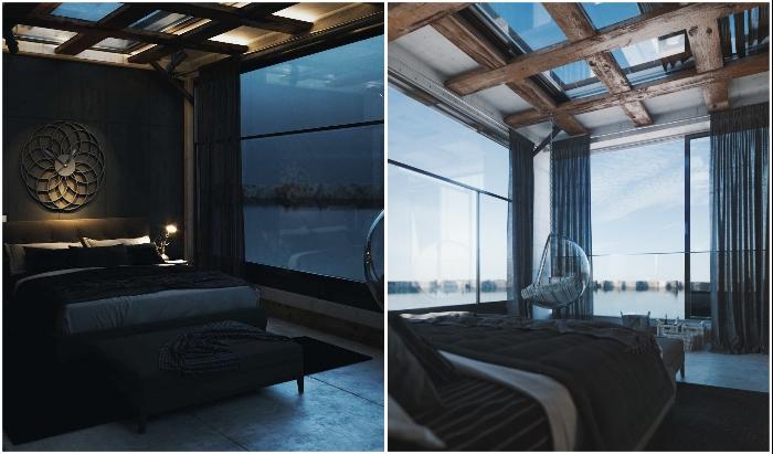 Интерьер одной из спальных комнат «Горного дома».