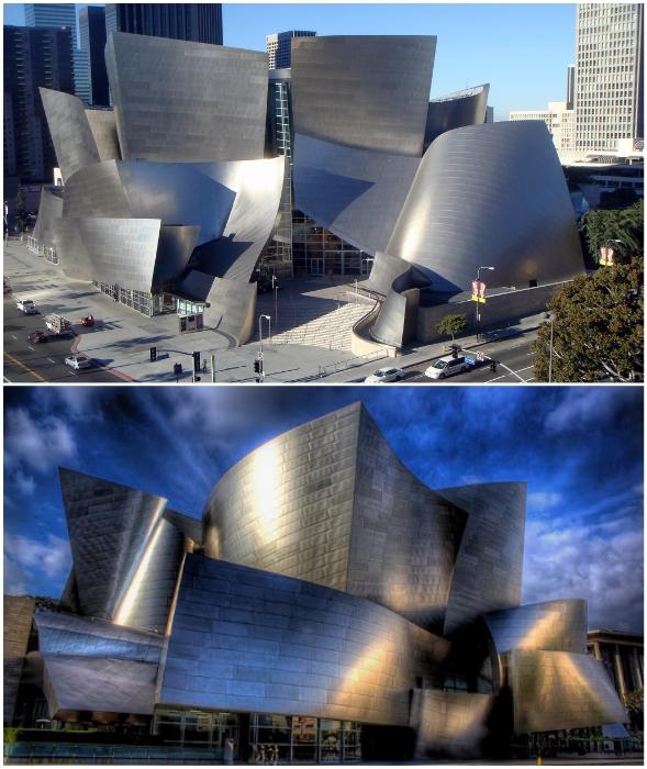 The Walt Disney Concert Hall – невероятное сооружение, поражающее своим внешним видом (Лос-Анджелес, США).