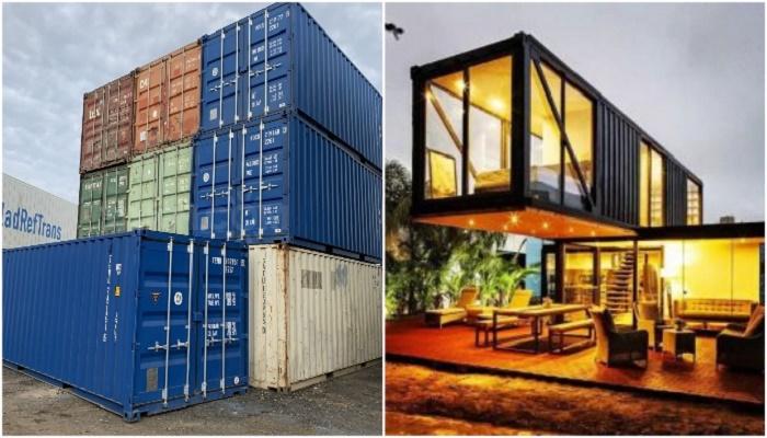 Морские контейнеры для перевозки грузов вдохновляют на создание современного и комфортного жилья.