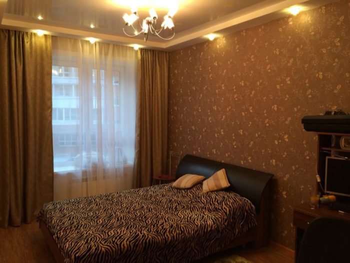 Темно-коричневые тона не допустимы при оформлении маленьких спальных комнат. | Фото: dizajnintererov.com.