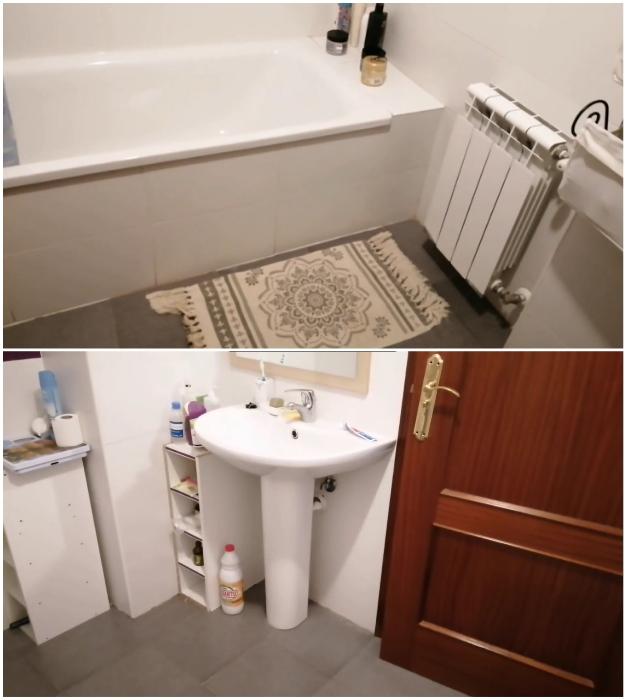 Эту ванную комнату молодая хозяйка решила обновить.