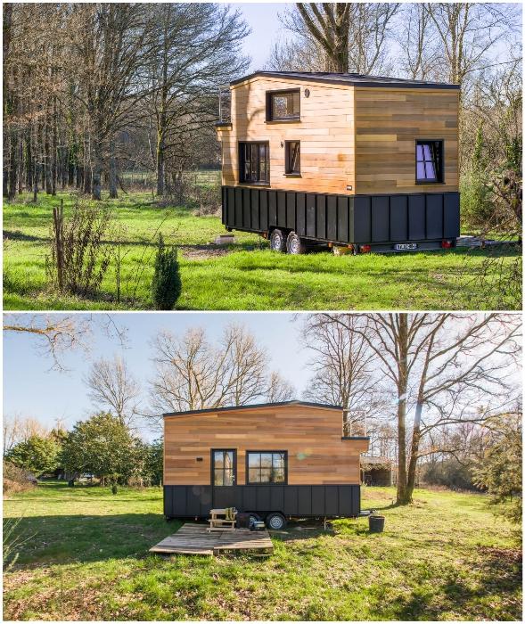 Французская фирма Baluchon спроектировала крошечный дом-студию на колесах (Tiny House Rhapsodie.