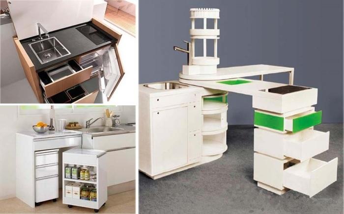 Кухня размером с тумбочку пригодится даже на пикнике. | Фото: papamaster.su.