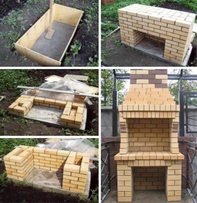 Интересный вариант строительства гриля-барбекю из кирпича. | Фото: transit-sv.spb.ru.