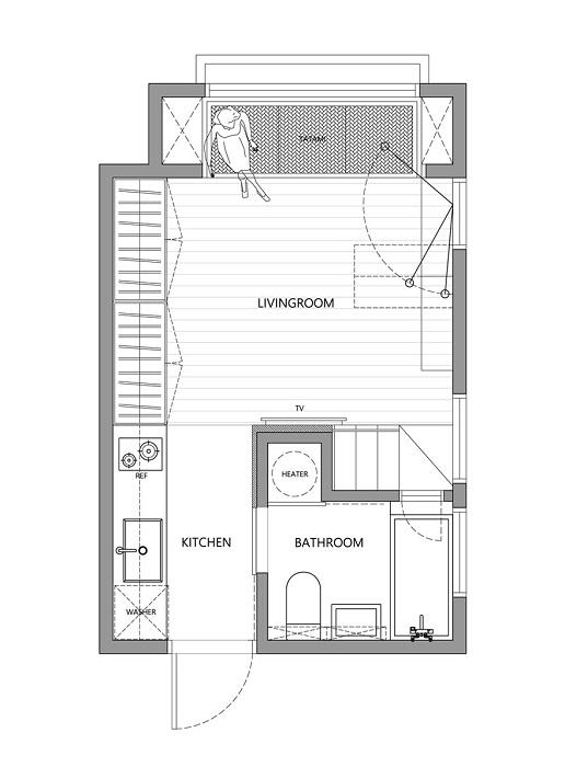 Схема размещения комнат после реконструкции квартиры.