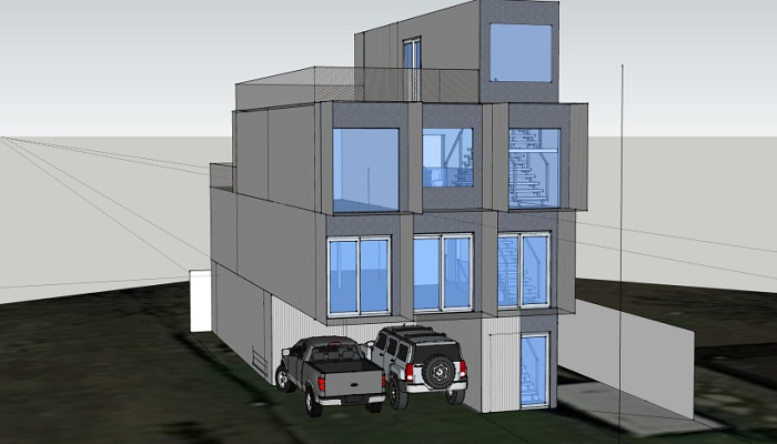С помощью конструкторской программы Уилл Бро создал проект и 3D модель McGowen Container House. lifehacker.ru.
