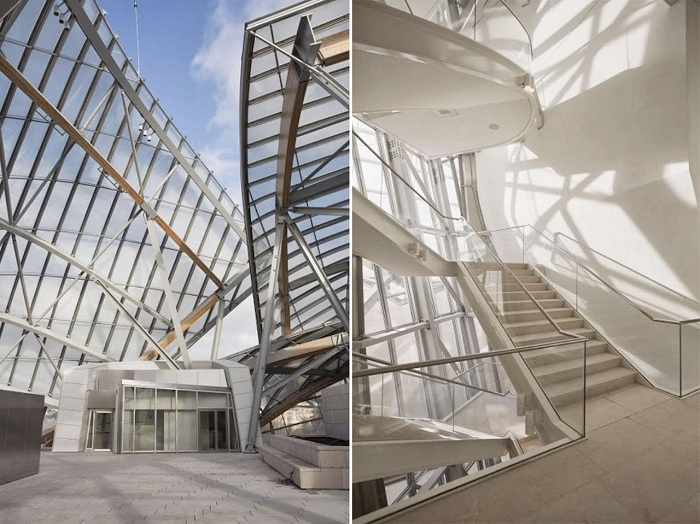 Невероятный интерьер многофункционального музейного комплекса Louis Vuitton (Париж, Франция). | Фото: interiorhomeforsale.com.