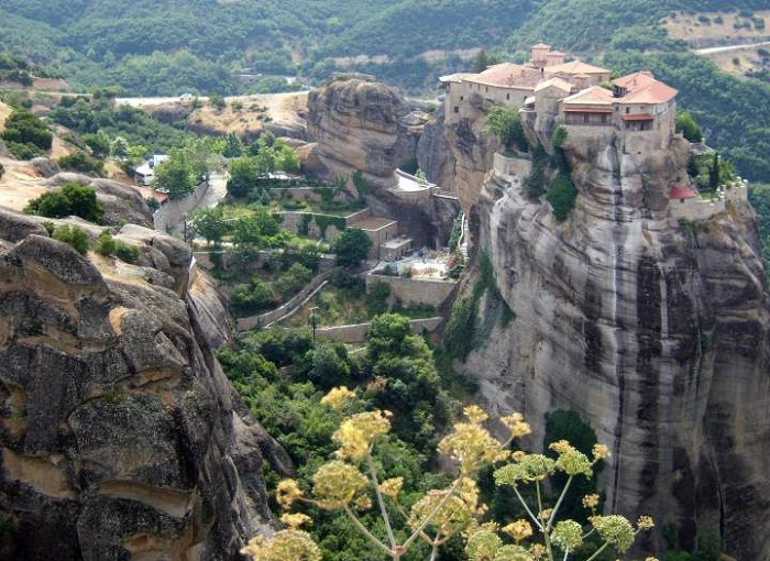 Монастырь Варлаама основан в XIV веке (Метеоры, Греция).