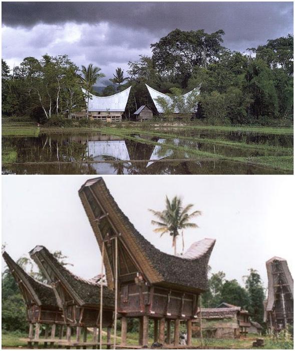 Ни окон, ни дверей – традиционное жилище батаков (Индонезия).