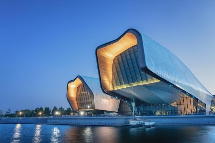 Концепт Национального морского музея в Тяньцзине стал победителем Всемирного фестиваля архитектуры «Будущий культурный проект года» в 2013 г. (The National Maritime Museum of China). | Фото: e-architect.co.uk.